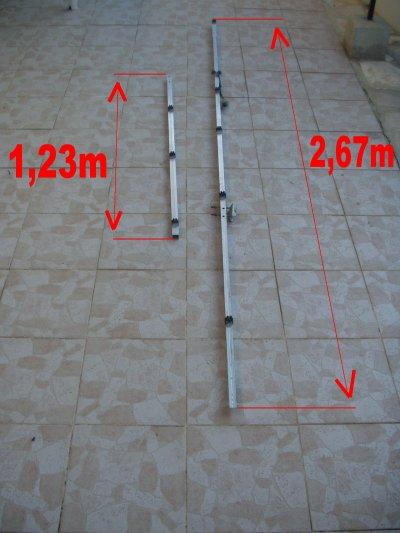 Fabrication d'une antenne VHF Yagi 9 éléments demi-boom-