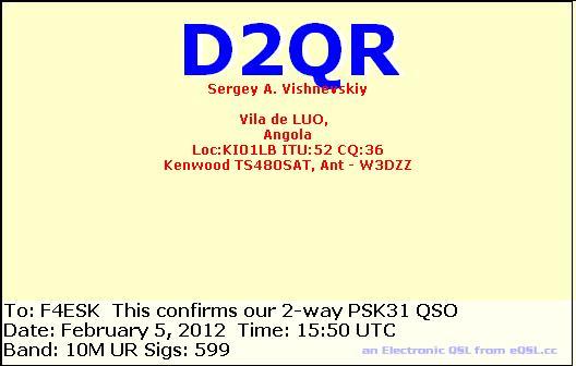 D2QR-Angola dans trafic