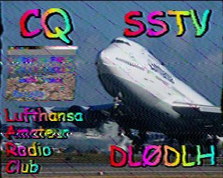 QSO en SSTV dans trafic 201210201350